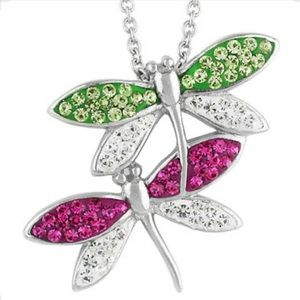 Jewelry - Dragonfly Silver Plated Necklace
